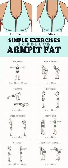 8 Simple Exercises To Reduce Armpit Fat - INFOSTYLES