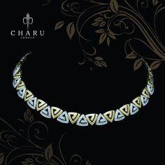 "34 Likes, 1 Comments - Charu Jewels (@charujewels) on Instagram: ""#designer #jwelery from #charu #jewels"" Diamond Necklaces, Diamond Necklace Simple, Diamond Pendant Necklace, Diamond Jewelry, Jewelry Necklaces, Silver Jewelry, Stone Necklace, Statement Jewelry, Necklace Set"