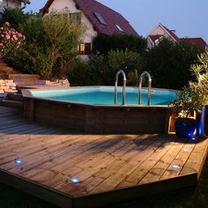 1000 ideas about piscine hors sol on pinterest petite - Jacuzzi exterieur semi enterre ...