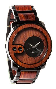The Flud Exchange Watch in Red Wood takes the modern timepiece to a new level. Incorporating the natural beauty of wood into its design, and ensuring durability with a chain link band, this watch is the epitome of character, style, and functionality. http://www.zocko.com/z/JIler