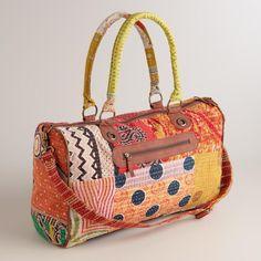 Kantha Patchwork Weekender Bag
