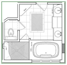 8 x 12 master bathroom floor plans Google Search