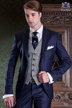 Costume de mariage bleu marine de pur laine Ottavio Nuccio Gala