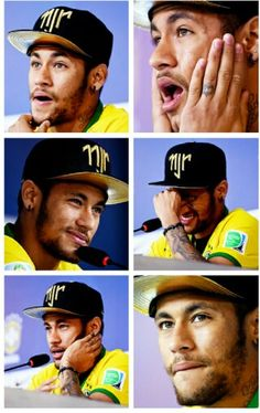 My love Faces. Good Soccer Players, Football Players, Neymar Jr Wallpapers, Neymar Pic, Bae, Hey Good Lookin, World Cup 2014, Sports Stars, Best Player