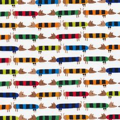 Dachsund from Ed Emberley's Happy Drawing, Too! by Ed Emberley for Cloud9 Fabrics