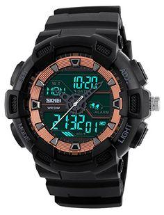13713df3eb2 SKMEI 2016 New 3 Time Male Big Dial Digital Wristwatch Chronograph  Waterproof Men s Watches EL Military Clock Hour Sport Watch