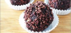 Raw Chocolate-Cherry Brownie Bites