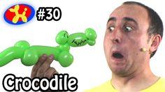One Balloon Crocodile - Balloon Animal Lessons #30