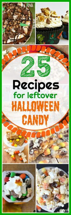 Here are some fun and delicious Recipes To Make With Leftover Halloween Candy. #Halloween #Desserts #HalloweenCandy