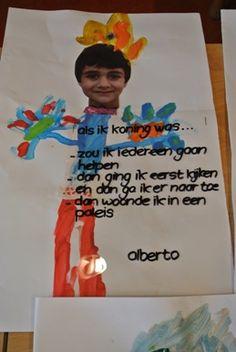 Als ik koning was dan ....... Going Dutch, Kings Day, Wordpress, Holland, Activities For Kids, Paper Crafts, Teacher, School, Birthday