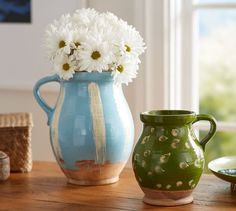 Painted Ceramic Pitchers   Pottery Barn
