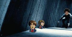Funny Levi and Eren | funny anime anime gifs snk attack on titan eren jaeger Armin Arlert ...