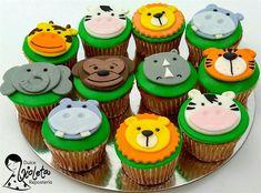 Más cupcakes animales de la selva...¡nos vamos de safari dulce!