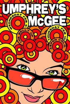 Umphrey's Mcgee music poster, Aspen, Colorado  #artposter