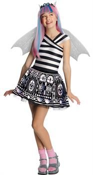 Monster High Rochelle Goyle Child Costume She's a gargoyle with a flair for drama! Costume includes: Black and white dress and sparkly wings. This is an officially licensed Monster High product.Wig, shoes and socks not included. Kids Costumes Girls, Halloween Costumes For Girls, Girl Costumes, Cosplay Costumes, Costume Ideas, Cosplay Ideas, Women Halloween, Halloween Projects, Halloween Party Decor