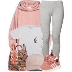 d1af13defa9ea A fashion look from January 2017 featuring adidas Originals leggings and  adidas shoes. Browse and