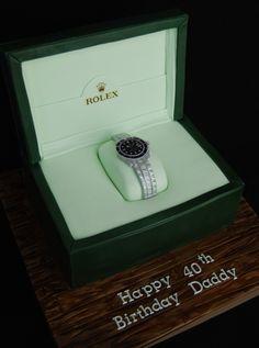 Rolex watch cake