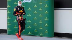 Max Verstappen Red Bull Racing in parc fermé at Azerbaijan Grand Prix, Baku - Saturday 28 April 2018
