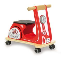 Jamm Scoot - Racing Red - Jammtoys, Ride On Scooter - wooden toys