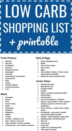 Low carb / keto grocery shopping list plus printable PDF. budget / healthy / ketogenic / household / costco / for two / trader joes / paleo / clean eating / cheap / weekly / home / diet / food / basic / ideas / template / free / ultimate / monthly / weigh Keto Food List, Food Lists, Paleo Diet, Ketogenic Diet, Diet Foods, Keto Meal, Healthy Nutrition, Hcg Diet, Paleo Food