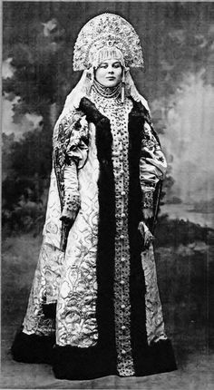 Elena Rodzianko at the costume Ball in the Winter Palace, circa 1903.