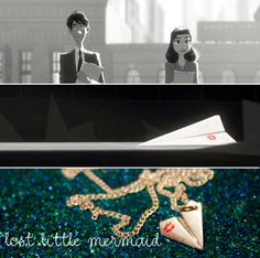 Paperman Inspired Paper Airplane Necklace by LostLittleMermaid, $10.00