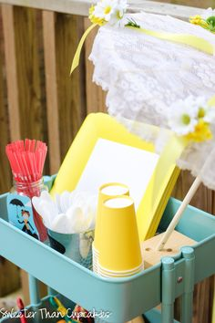 Ikea Raskog cart - Mary Poppins party cart