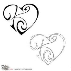 Letter Tattoo  Feminine Dragon Design Oriental---I would love to get this on my wrist cause it's a K for Kairi =)