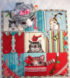 NeW NeW NeW Kitty CAT Fidget Activity Tactile Sensory Quilt Wheelchair Blanket for Alzheimer's stroke autistic dementia anxiety brain trauma