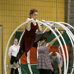 And another pic from our show. This time: high split. Wearing a dress while doing those exercises felt so cool 💃 | #rhönrad #rhonrad #gymwheel #germanwheel #gymnastics #wheelgymnastics #show bestsportever #traindifferent #inlovewiththissport