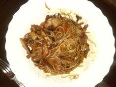 Espaguetis al estilo chino