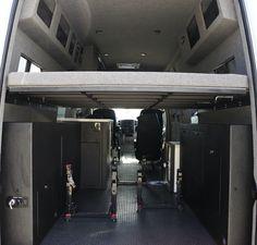 MX Gear Hauler - El Kapitan - Huntington Beach, California - Van Conversion Mercedes Sprinter Van 170 Sprinter Rv, Mercedes Sprinter, Mercedes Benz, Vauxhall Vivaro Camper, Van Conversion Interior, Van Dwelling, Cargo Van, Custom Vans, Rv Campers