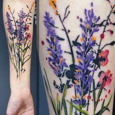 Wild Flower Tattoo by Julia Rehme #flowertattoos