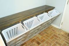 How to build a 4 hamper laundry sorter that looks like a dresser! - How to build a 4 hamper laundry sorter that looks like a dresser! Laundry Room Remodel, Laundry Decor, Laundry Closet, Laundry Room Organization, Laundry Room Design, Organizing, Small Laundry, Laundry Rooms, Flur Design