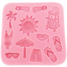 Funshowcase Beach Holiday Silicone Cake Decorating for Sugarcraft, Fondant, Resin, Polymer Clay, Crafting Projects -- Unbelievable  item right here! : Candy Making Supplies