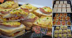 NapadyNavody.sk | 7 skvelých receptov na rýchle a jednoduché jedlá z toastového chleba Pizza Sandwich, Meat Recipes, Cooking Recipes, Sandwiches, Dinner For Two, Christmas Goodies, Bon Appetit, Sushi, Brunch