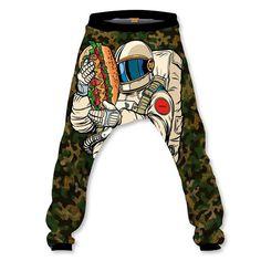 Astronaut Catmouflage Baggy Pant Baggy Shorts, Astronaut, High Definition, Elastic Waist, Hoodies, Sweaters, Pants, Fashion, Moda