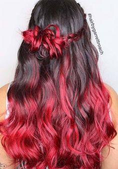 100 Badass Red hair colors: Auburn Cherry Copper Burgundy Hair Shades // …, - All For Hair Color Trending Red Balayage Hair Burgundy, Balayage Auburn, Deep Burgundy Hair, Balayage Hair Caramel, Caramel Hair, Hair Color Balayage, Burgundy Highlights, Ombre Burgundy, Balayage Bob