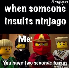 Uh oh, seems like Kai is angry that some people hate Ninjago. Comment and pin this if you agree that Ninjago haters should be running away from the Ninjago fans.