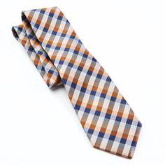 Chaps Plaid Silk Tie - Men
