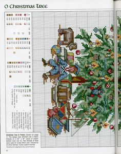 Christmas Tree 3/3 Living Room [Pattern / Chart] [Christmas - Cross Stitch]
