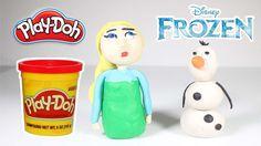 #3[Disney Frozen Princess Elsa] Play doh Doll Character toy clay stop mo...