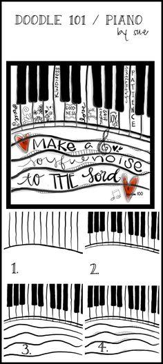 Doodle101pianokeysSueCarrollpm