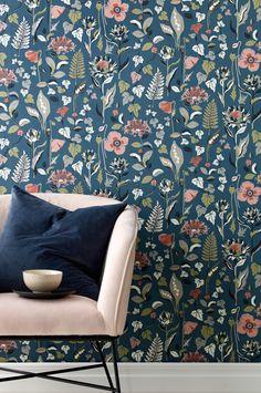 10 M Vintage Great Mills Vinyle Lavable Papier Peint Bordure Rose Motif Floral #W60