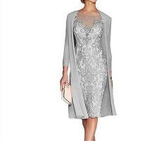 Light Pink Women's Mother of The Groom Dresses Tea Length Lace Mother of the Bride Dress with Jacket Formal Evening Gowns Mother Of Bride Outfits, Mother Of Groom Dresses, Mothers Dresses, Mother Of The Bride Clothes, Brides Mom Dress, Mother Of The Bride Dresses Plus Size, Mother Of The Groom Looks, Grooms Mom Dress, Mother Of The Groom Hairstyles
