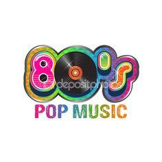 80s Party illustration logo — Stock Vector #60299263