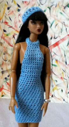 Crochet Custom-made Dress for Fashion Dolls by ashavenae on Etsy, $8.00