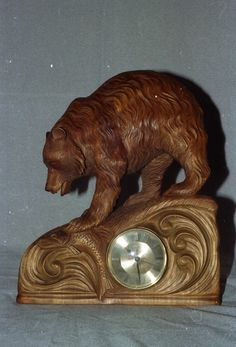 Mirror Painting, St Albans, Wooden Clock, Wood Carvings, Wood Sculpture, Clocks, Woodworking, Fantasy, Rustic