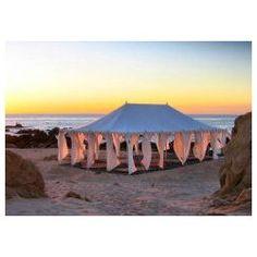 Arabian tent on the beach.