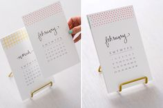 It's Not Too Late to Make Our DIY Calligraphy Calendar (Free Printable!) via Brit + Co.